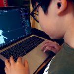 """《小学生プログラマー""""シモンとマシロ""""の毎日プログラミング》【本日307日目】Blender(ブレンダー)で3Dキャラをモデリング中!(PART3)顔ができた!髪型激むずっ!!子供のプログラミングスキルを伸ばす方法#今日の積み上げ"""