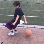 《ミニバスで全国大会を目指す!》息子のしもん(7歳/小2)と今日もバスケットボールの練習をしてきました。(2020年5月9日)