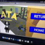 """《小学生プログラマーしもんとましろの毎日プログラミング》【本日563日目】兄弟で共同開発中の新作ゲームアプリ""""SHARKY BITE""""のタイトル画面がほぼほぼ完成している模様!Prefab作りとメイン画面にボタン設置。TATAもポーズ画面のエラー直して順調に進んでるっぽい!Unity3D,Blender,Swift,Xcode"""